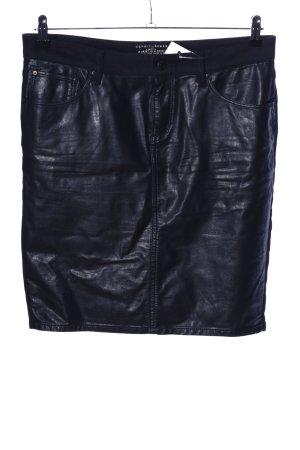 Esprit Falda de talle alto negro look casual