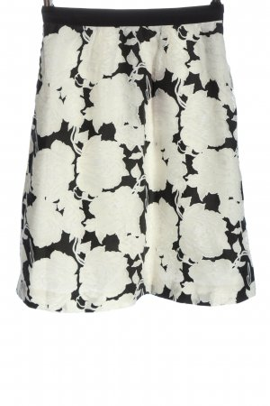 Esprit Falda de talle alto negro-blanco elegante