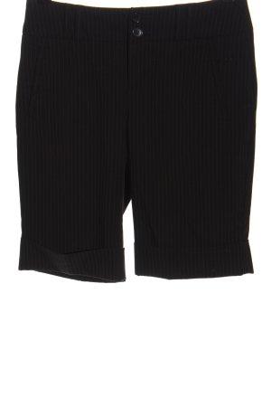 Esprit High-Waist-Shorts schwarz-hellgrau Streifenmuster Business-Look