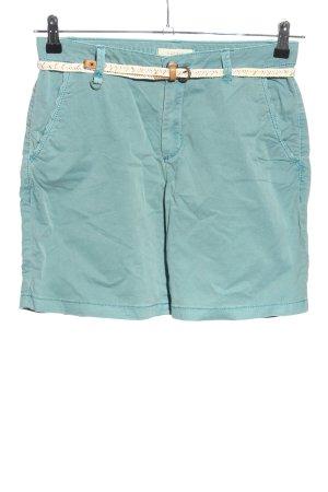 Esprit High-Waist-Shorts blau-wollweiß Casual-Look
