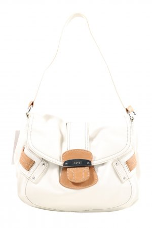 Esprit Bolsa Hobo blanco-marrón look casual