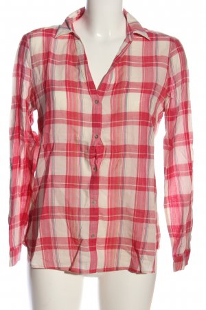 Esprit Camisa de leñador rosa-azul estampado a cuadros look casual
