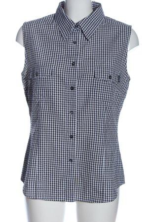 Esprit Holzfällerhemd schwarz-weiß Allover-Druck Casual-Look