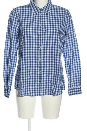 Esprit Holzfällerhemd blau-weiß Karomuster Casual-Look