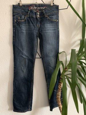 edc by Esprit Jeansy z prostymi nogawkami ciemnoniebieski