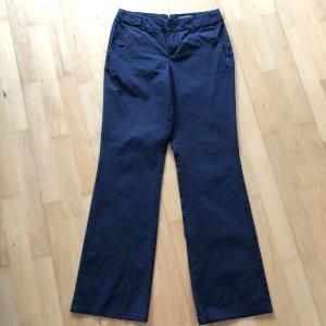 Esprit Hose Gr  32 blau weiß gestreift Stoffhose Nadelstreifen