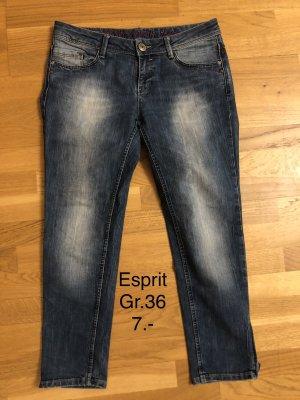 esprit collection Jeansowe spodnie dzwony niebieski