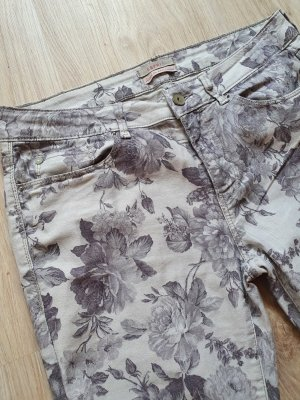 ESPRIT / Hose / Jeans / 5-Pocket-Hose / Allover-Print / Blumenprint / changierend / grau
