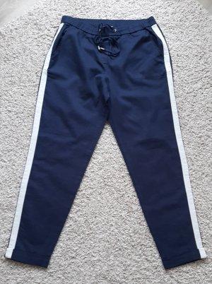 Esprit Pantalón de lino blanco-azul