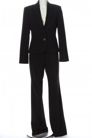 Esprit Trouser Suit black-brown striped pattern business style