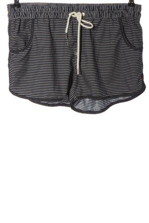 Esprit Hot Pants blau-weiß Allover-Druck Casual-Look