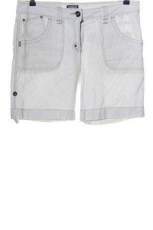 Esprit Hot Pants weiß-schwarz Streifenmuster Casual-Look