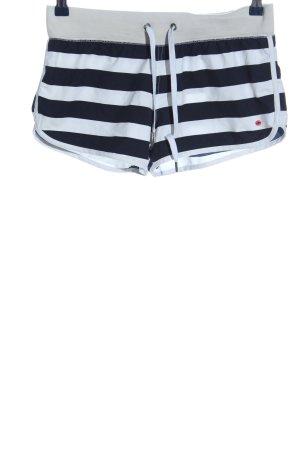 Esprit Hot Pants weiß-schwarz Streifenmuster sportlicher Stil