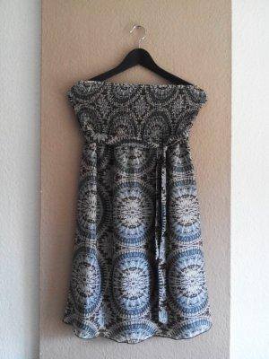Esprit hübsches bandeau Minikleid aus 100% Seide, Größe 38