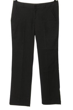 Esprit pantalón de cintura baja negro-gris claro estampado a rayas