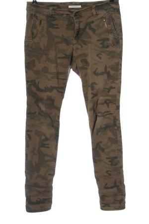 Esprit Spodnie biodrówki brązowy Na całej powierzchni W stylu casual