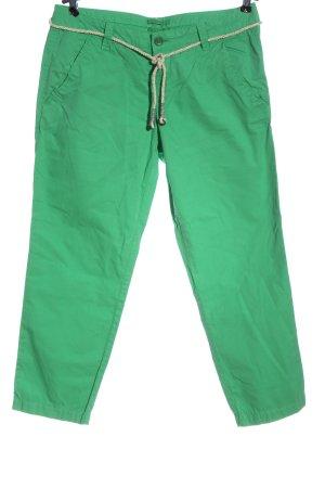 Esprit Lage taille broek groen-wolwit casual uitstraling