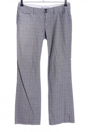 Esprit Low-Rise Trousers light grey allover print business style