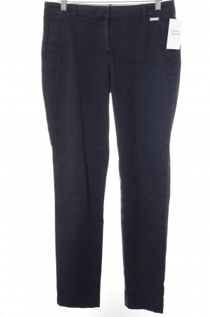 Esprit Lage taille broek donkerblauw casual uitstraling