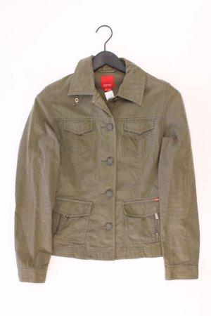 Esprit Jacke Größe M olivgrün aus Baumwolle