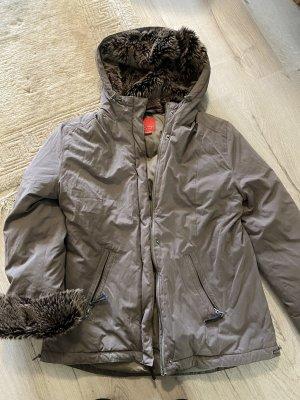 Esprit Kurtka zimowa beżowy-szaro-brązowy
