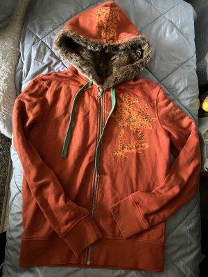 Esprit Chaqueta con capucha naranja
