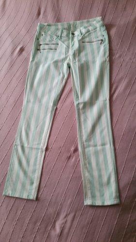 Esprit Jeansy ze stretchu biały-miętowy