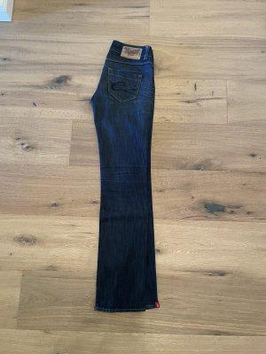 edc by Esprit Jeans taille basse bleu acier