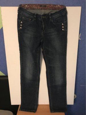 Esprit Jeansy z prostymi nogawkami niebieski