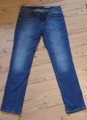 Edc Esprit Jeans a gamba dritta blu Cotone