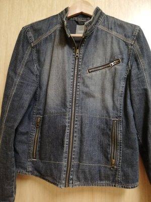 Esprit Jeans Jacke mit Stehkragen, dunkel stone washed Gr. 38