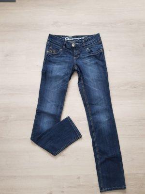 edc by Esprit pantalón de cintura baja azul-azul oscuro