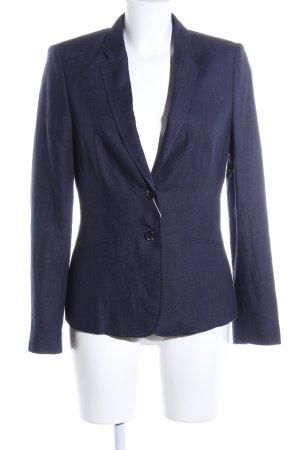 Esprit Spijkerblazer blauw Webpatroon zakelijke stijl