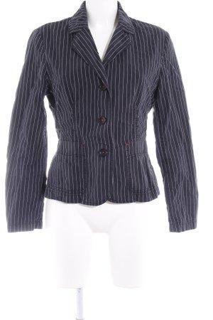Esprit Spijkerblazer donkerblauw-wit gestreept patroon