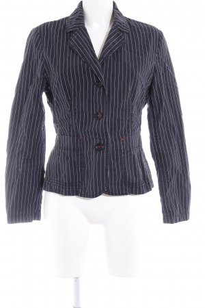 Esprit Blazer in jeans blu scuro-bianco motivo a righe