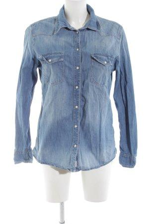 Esprit Jeansbluse blau Casual-Look