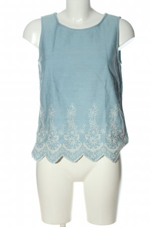 Esprit Blouse en jean bleu-blanc style décontracté