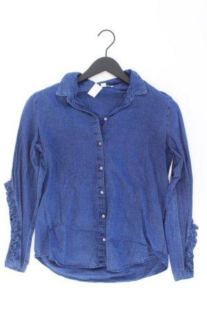 Esprit Jeansbluse Größe 36 Langarm blau aus Baumwolle