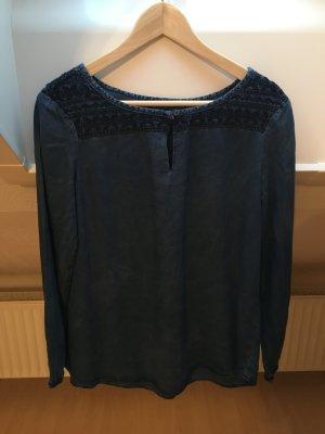 Esprit Blouse en jean bleu foncé