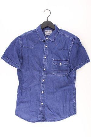 Esprit Jeansbluse Größe M Kurzarm blau