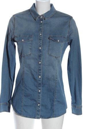 Esprit Jeansowa koszula niebieski W stylu casual