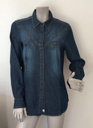 Esprit Bluzka jeansowa niebieski Bawełna