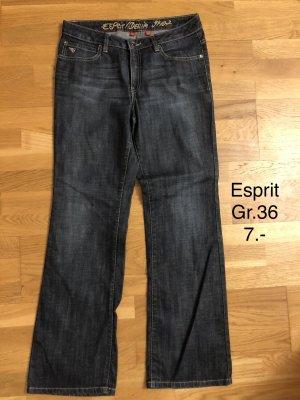 Esprit Jeansowe spodnie dzwony niebieski