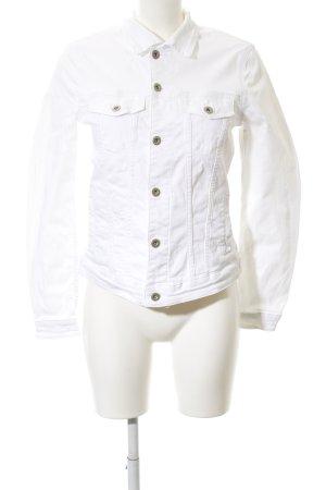 Esprit Giacca denim bianco stile casual