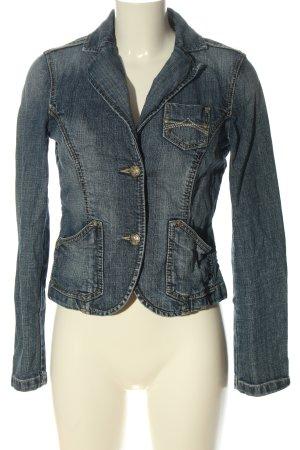 Esprit Jeansjacke blau Streifenmuster Casual-Look