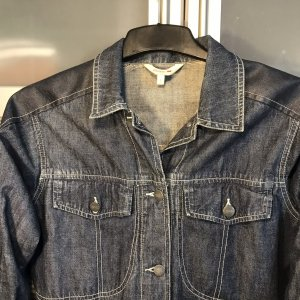 Esprit Jeansjacke leicht Blau/Grau sportlich