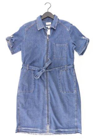Esprit Jeanskleid Größe XXL mit Gürtel Kurzarm blau aus Baumwolle