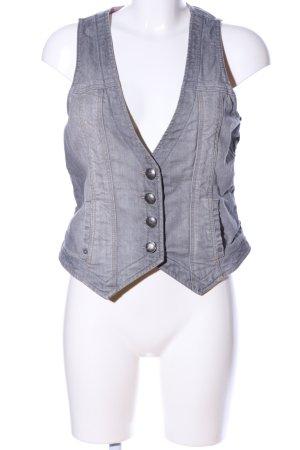 Esprit Gilet en jean gris clair style décontracté