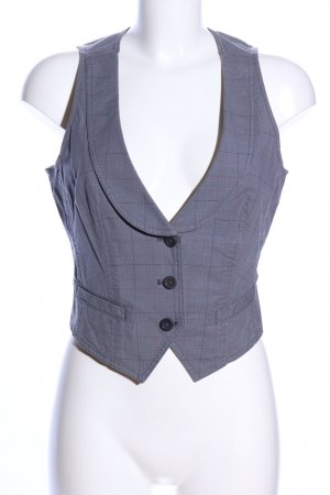 Esprit Jeansweste blau Karomuster Business-Look