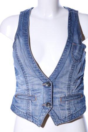 Esprit Smanicato jeans blu stile casual